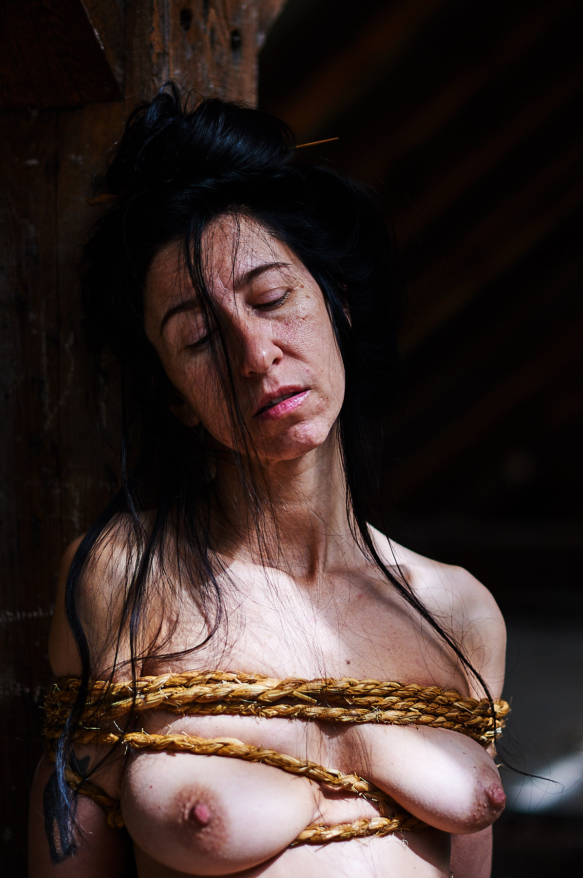 Rice Rope Kinbaku Photography Seiu Itho